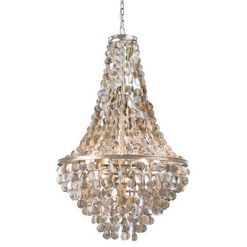 Regina Andrew Large Draped Abalone Scales Chandelier
