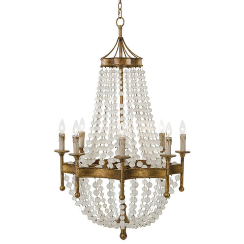 Regina Andrew Frosted Crystal Beads Chandelier
