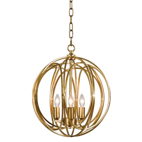 Regina Andrew Medium Entwined Globes Chandelier – Gold Leaf
