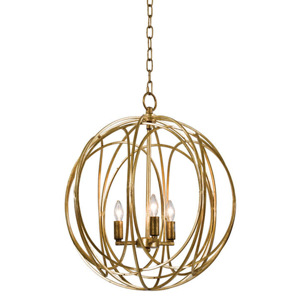 Regina Andrew Large Entwined Globes Chandelier – Gold Leaf