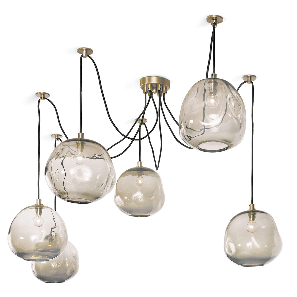 Regina Andrew Molten Glass Spider Chandelier – Natural Brass