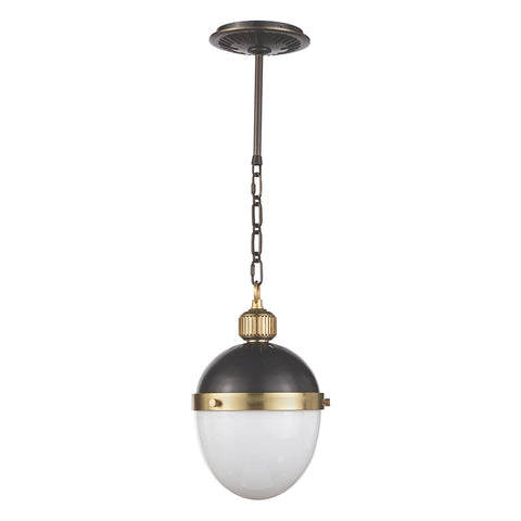 Regina Andrew Small Two-Tone Egg Shaped Pendant – Blackened Brass