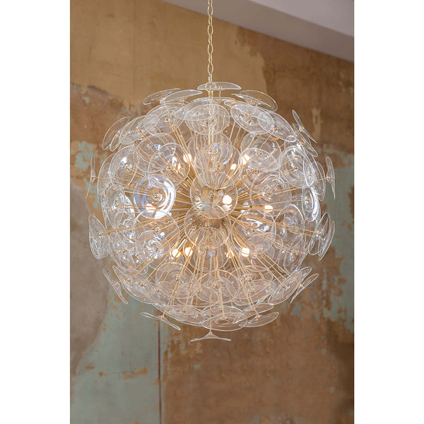 Regina Andrew Glam 12-Bulb Starburst Chandelier – Natural Brass