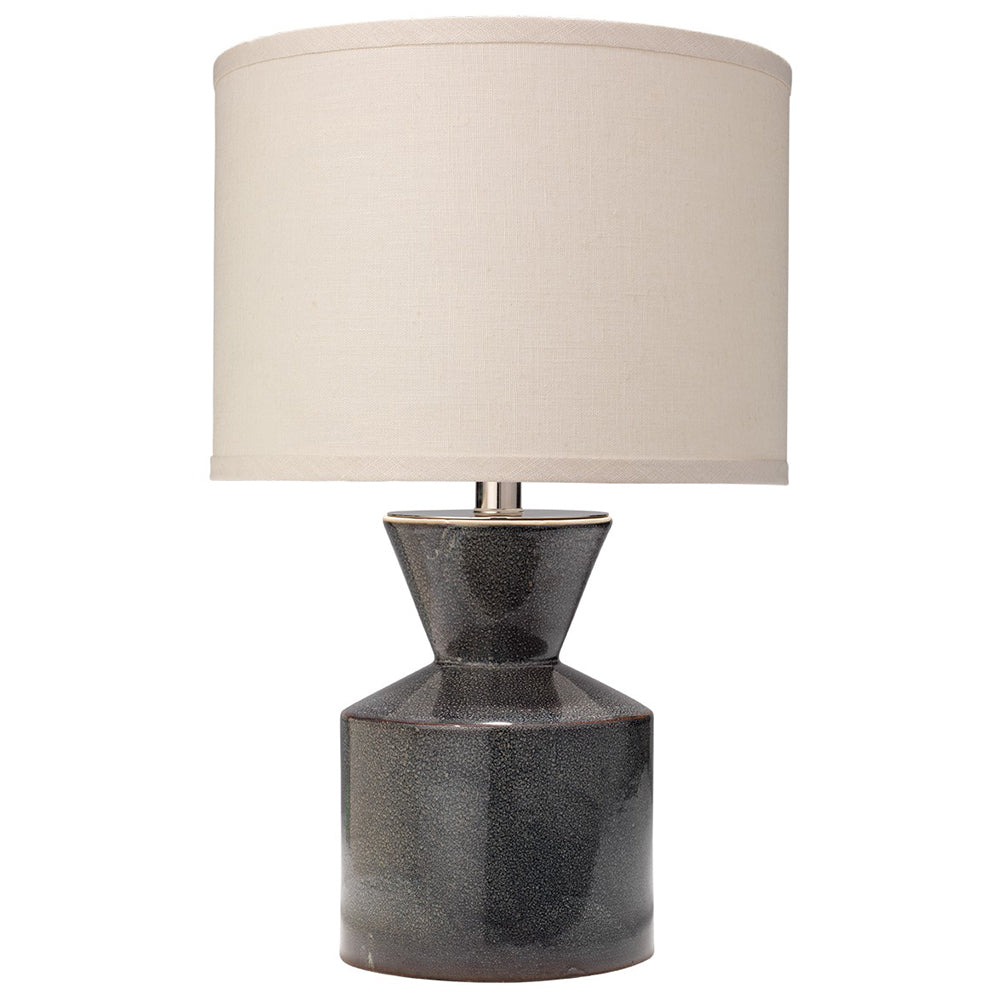 Small Ceramic Table Lamp With Drum Shade