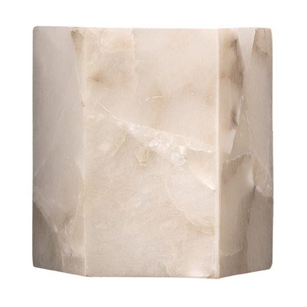Alabaster Hexagon Wall Sconce
