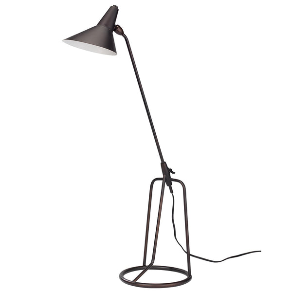 Modern Tripod Table Lamp with Hood – Oil Rubbed Bronze