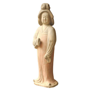 Decorative Ceramic Tang Court Lady Sculpture – Buff