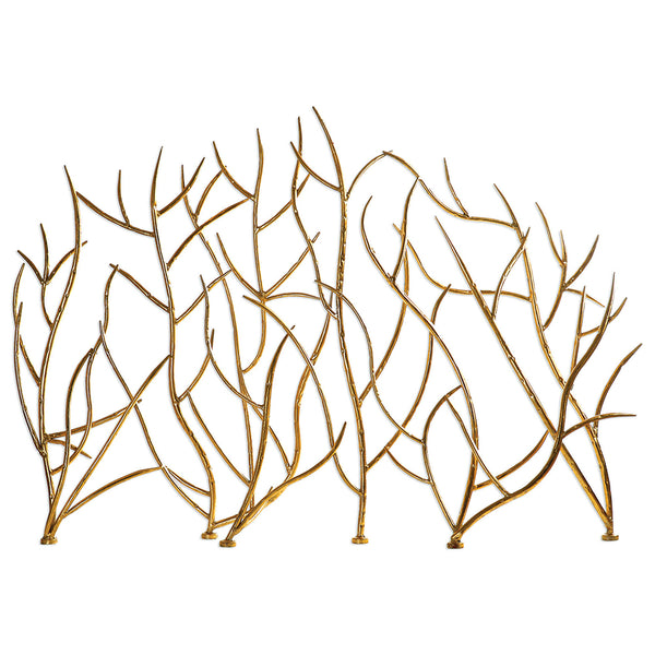 Decorative Gold Leaf Iron Branches Sculpture
