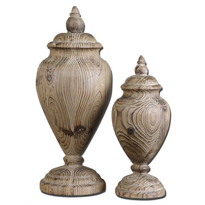 Wooden Finials – Set of 2