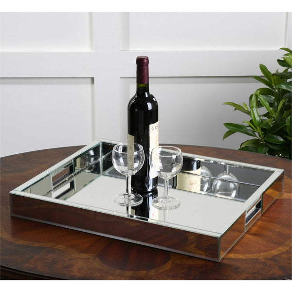 Modern Mirrored Tray
