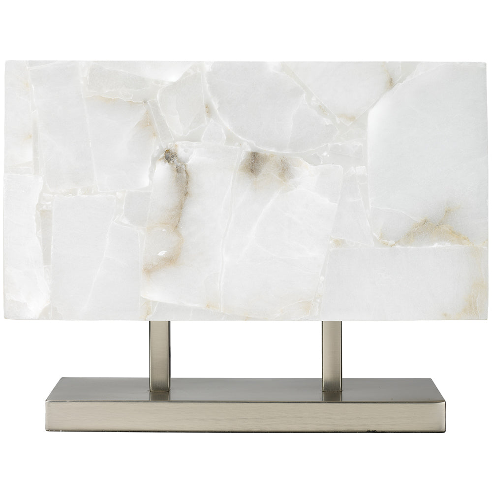 Rectangular alabaster and silver table lamp scenario home rectangular alabaster and silver table lamp geotapseo Image collections