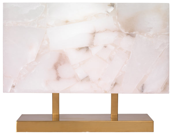 Ghost Horizon Table Lamp in Alabaster & Antique Brass