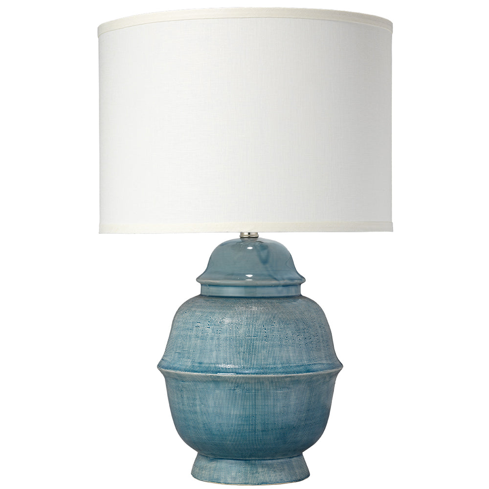 Ceramic table lamp with drum shade blue scenario home ceramic table lamp with drum shade blue aloadofball Choice Image