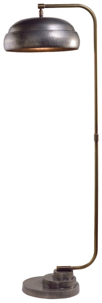 Steam Punk Floor Lamp in Gun Metal