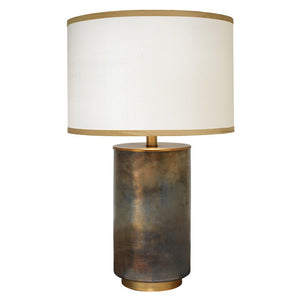 Medium Handblown Glass Column Table Lamp with Drum Shade – Midnight Ombre