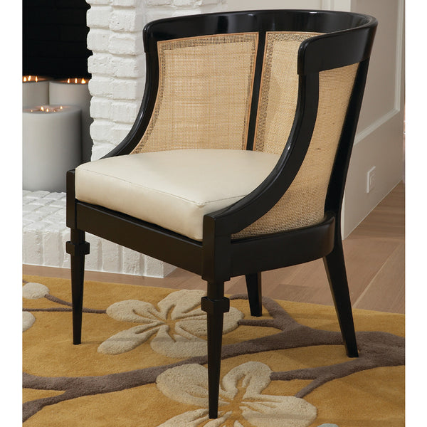 Curved Cane Chair – Black Frame