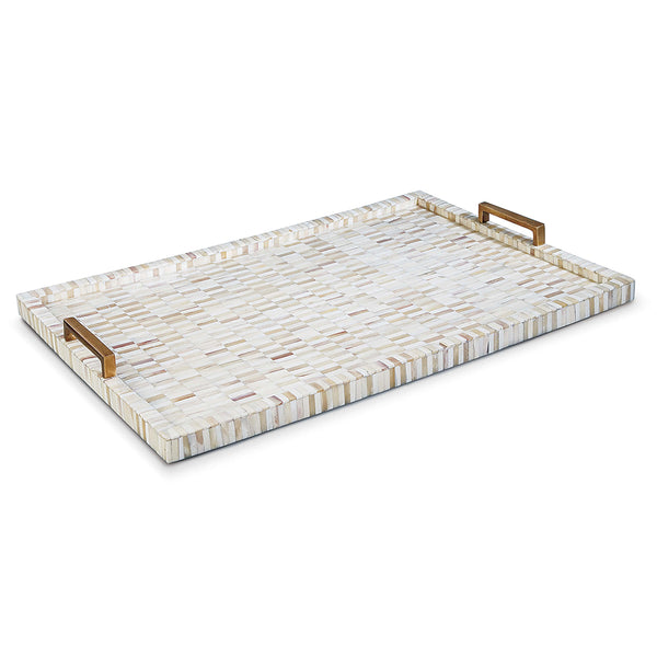 Regina Andrew Multi-Tone Bone Tray with Brass Handles