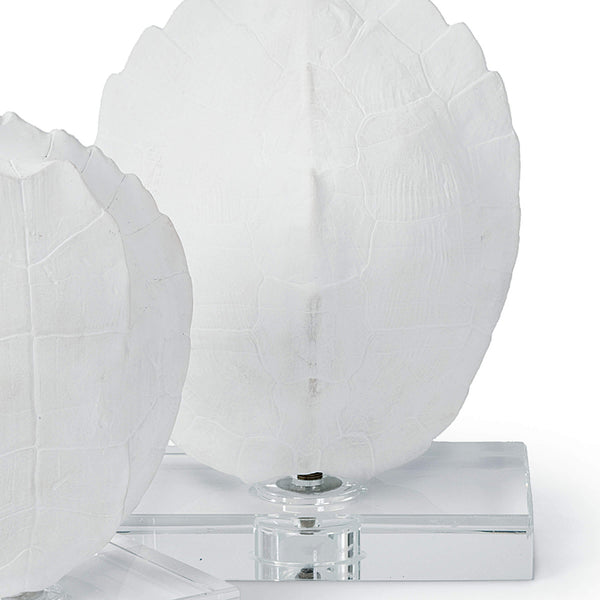 Regina Andrew Faux Turtle Shell Sculptures on Crystal  – Set of 2