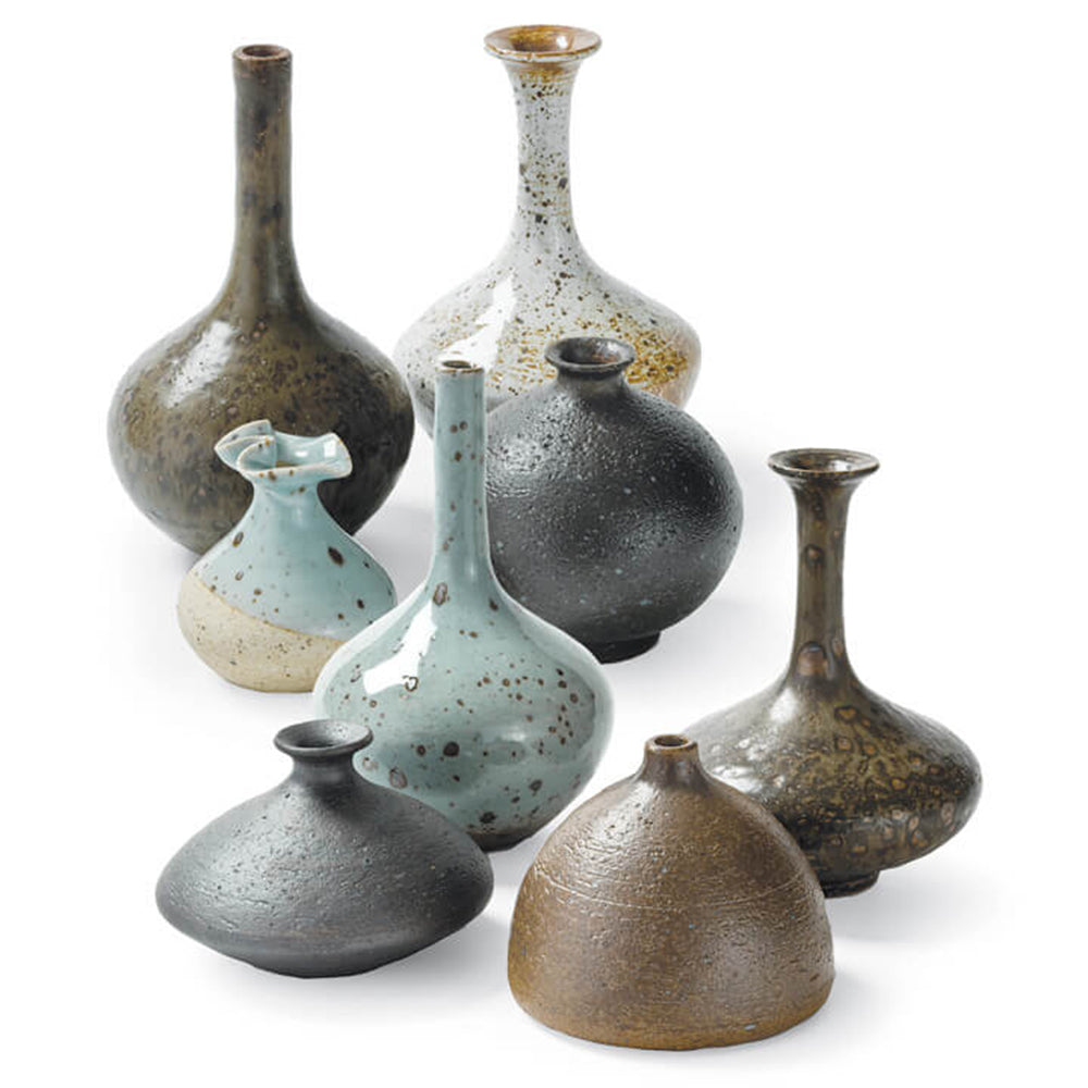Regina Andrew Multicolored Ceramic Bud Vases – Set of 8