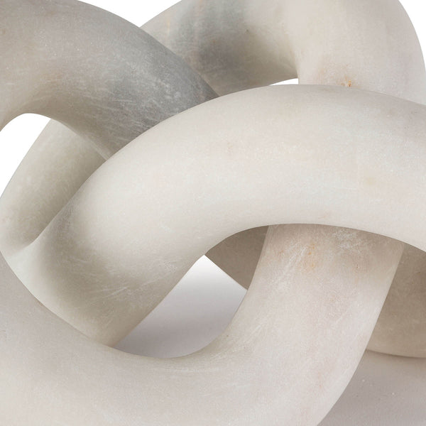 Regina Andrew Infinite Loop Marble Sculpture – White