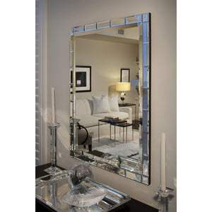 Beveled Tile Framed Mirror - Available in 2 Sizes