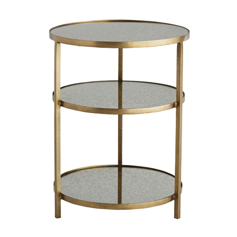 Arteriors Percy End Table Antique Brass/Antiqued Mirror