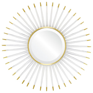 Acrylic Sunburst Mirror – Brass Accents