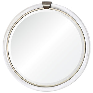 Round Acrylic Mirror – Silver Accents