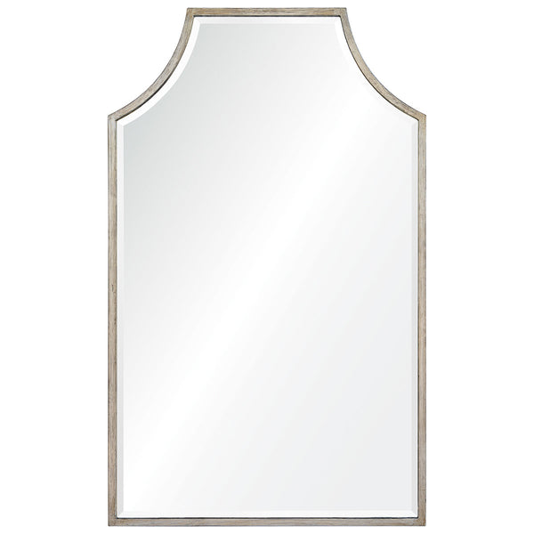 Large Antiqued Silver Leaf Mirror