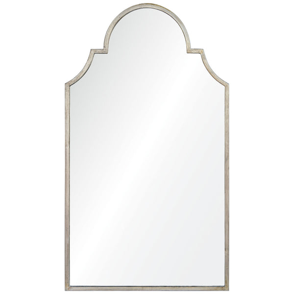 Large Queen Anne Mirror – Silver Leaf