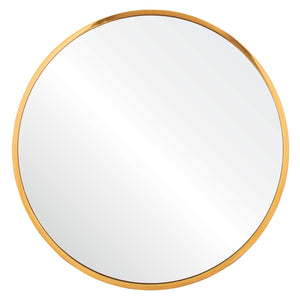Polished Stainless Steel Round Mirror
