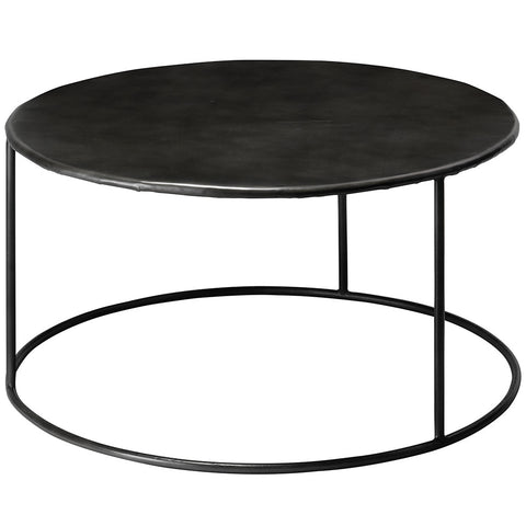 Contemporary Round Steel Cocktail Table
