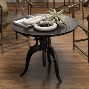 Americana Crank Table in Gun Metal