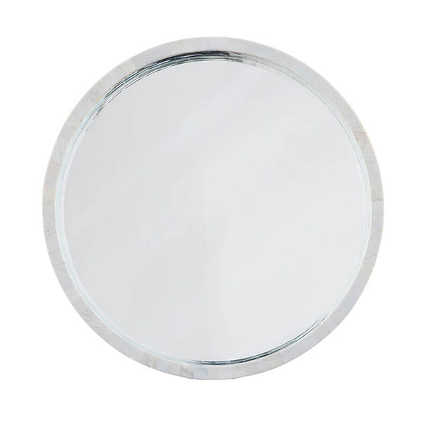 Regina Andrew Mother of Pearl Round Mirror - Medium