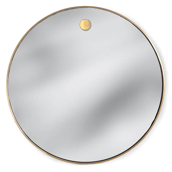 Regina Andrew Hanging Circular Mirror – Natural Brass