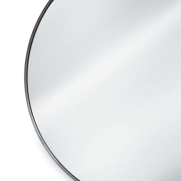 Regina Andrew Hanging Circular Mirror – Blackened Steel