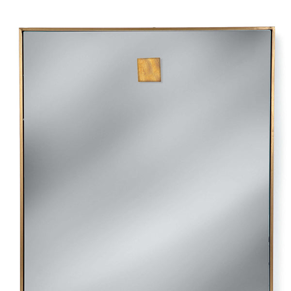 Regina Andrew Hanging Rectangle Mirror – Natural Brass