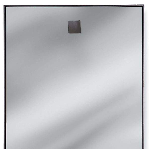 Regina Andrew Hanging Rectangle Mirror – Blackened Steel
