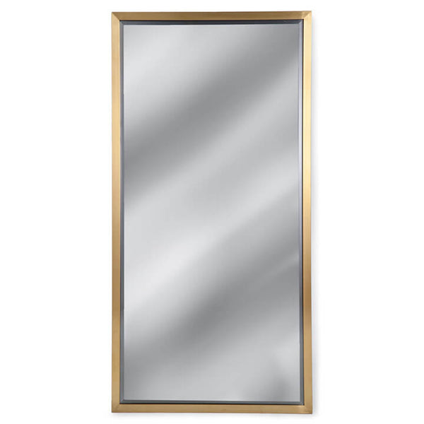 Regina Andrew Modern Rectangle Mirror – Natural Brass