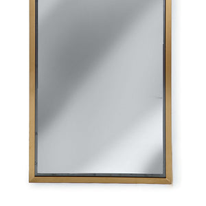 Regina Andrew Narrow Dressing Room Mirror – Natural Brass