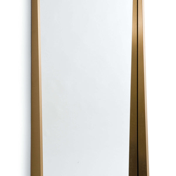 Regina Andrew Recessed Frame Rectangle Mirror – Natural Brass