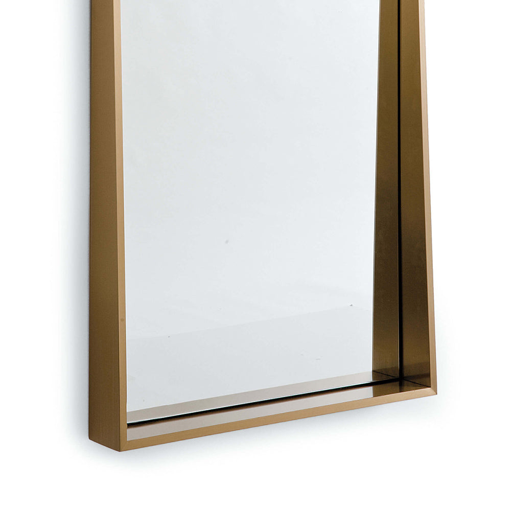 Regina Andrew Recessed Frame Rectangle Mirror   Natural Brass