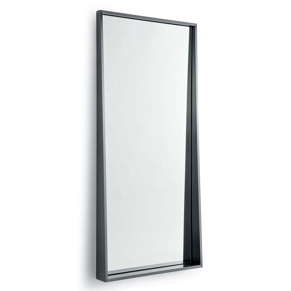 Regina Andrew Recessed Frame Rectangle Mirror – Blackened Steel