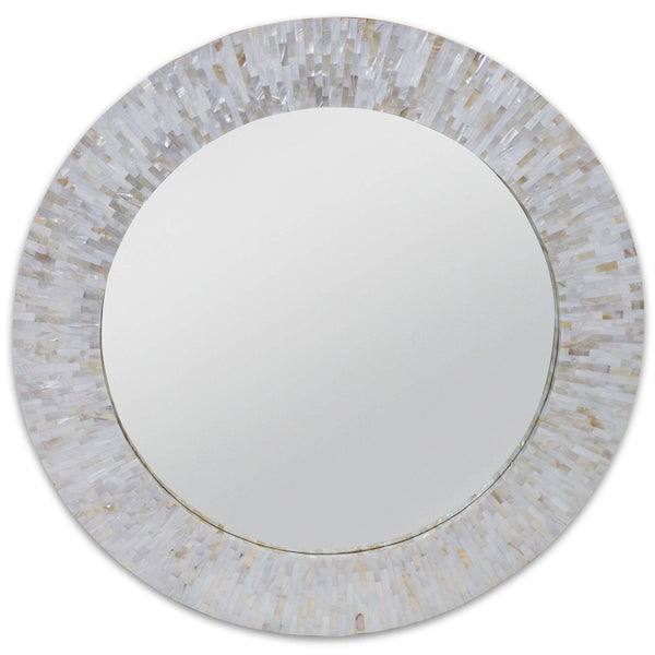 Regina Andrew Large Round Mother of Pearl Mirror