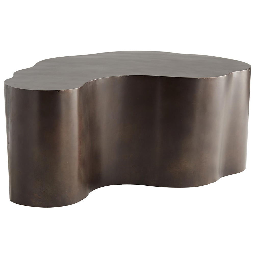 Arteriors Meadow Curved Iron Block Cocktail Table – Bronze
