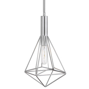 Geometric Cage Mini Pendant Light – Brushed Nickel
