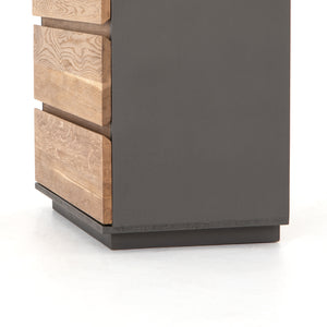 Holland 3 Drawer Nightstand - Smoked Oak
