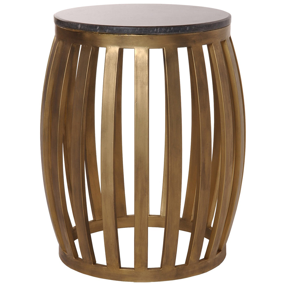 Round Granite Stool & Side Table - Gold