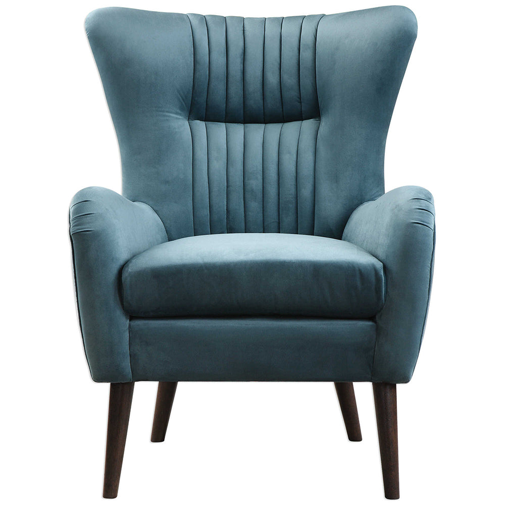 Classic Blue Velvet Accent Chair Design Ideas