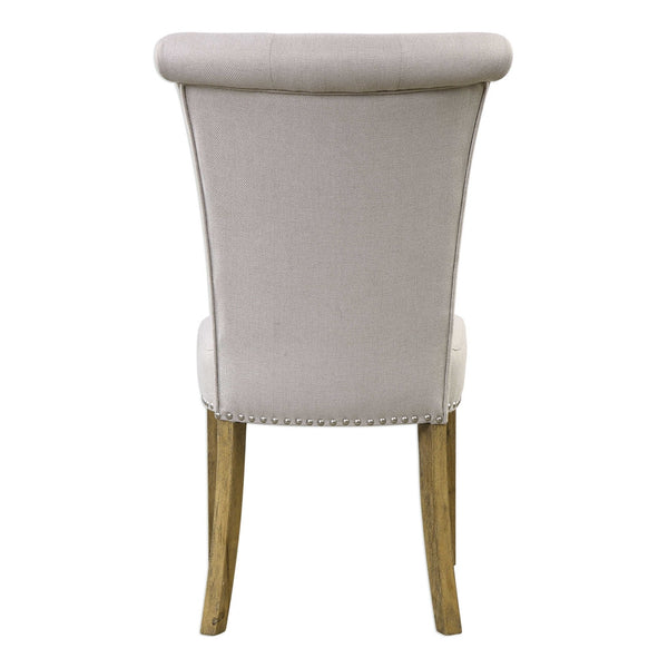 Armless Accent Chair — Neutral Grey